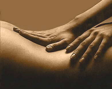 back massage hands