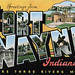 Greetings from Fort Wayne, Indiana, Where Three Rivers Meet - Large Letter Postcard by Shook Photos