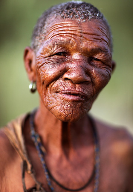 Old woman, Bushmen, Botswana