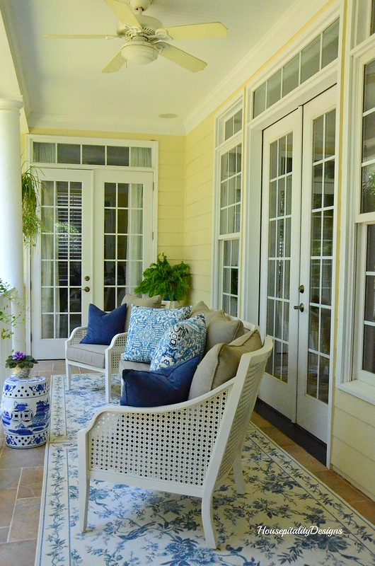 Summer Porch=Blue and White-Housepitality Designs