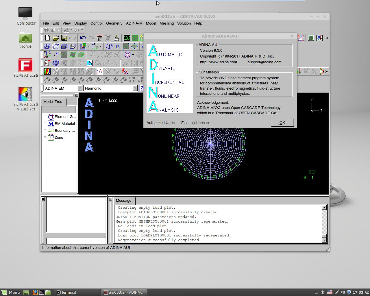 Interface of ADINA System 9.3.0 64bit full license