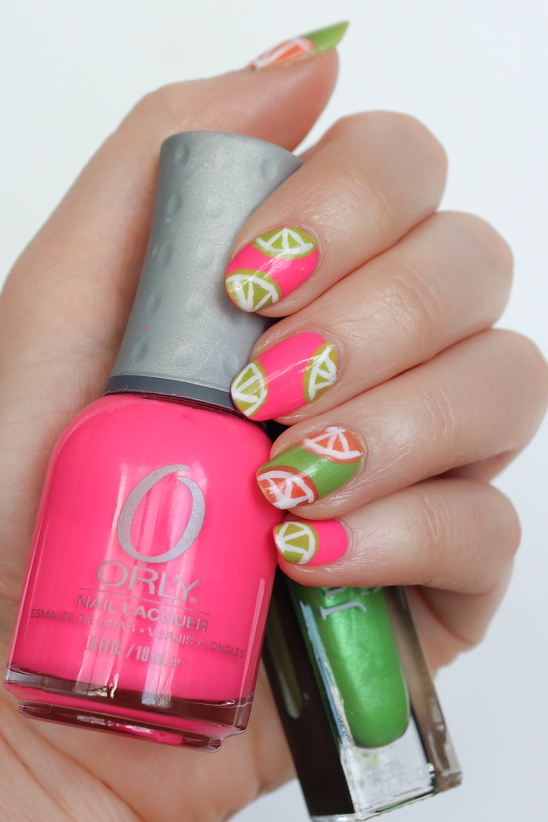 Summer Neon Fruit Nail Art Orly Nail Polish Beach Cruiser