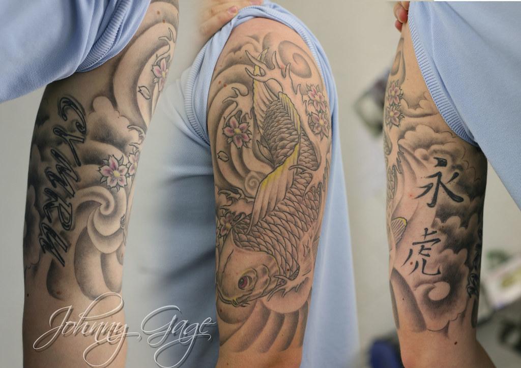 Japanese Koi Half Sleeve Tattoo Tattooed By Johnny At The Flickr