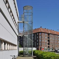 arne jacobsen, fire escape stairs, NOVO, copenhagen 1954-1955