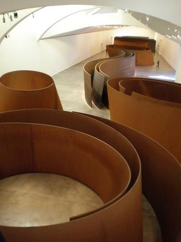 Richard Serra, The Matter of Time, sculpture at the en-Guggenheim Museum Bilbao by www.admsp.org