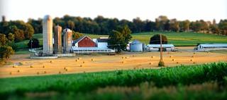 Lancaster County, PA farm tilt-shift