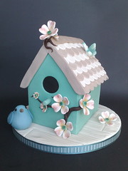Shabby Chic, Bird House Cake