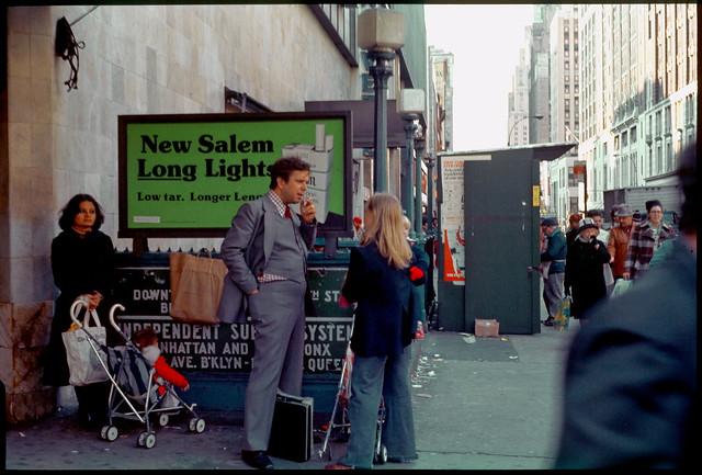 NYC Manhattan Herald Square Area 1976 Subway Fall Kodachrome Slide