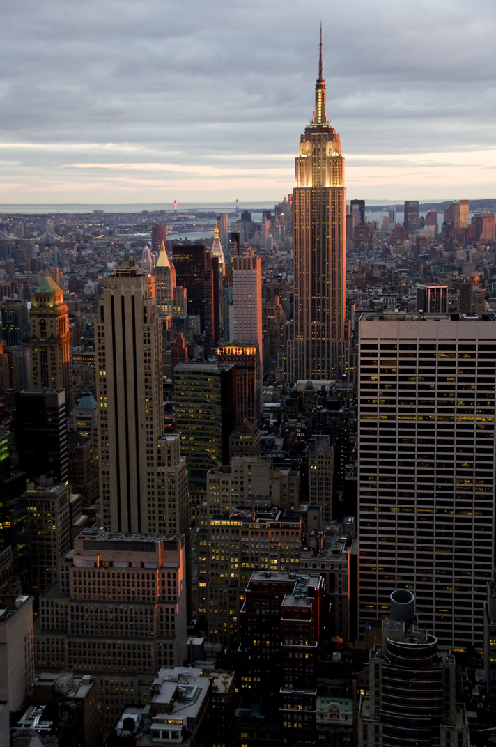 empire state building sunset - photo #24
