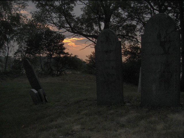 Gravestones at Wakefield Cemetery at Lake Quannapowitt; Wakefield, MA (2010)