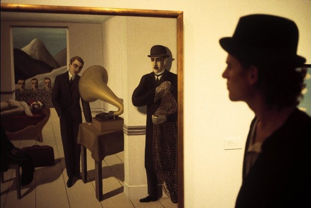Rene Magritte's 'The Menaced Assassin,' New York, by Thomas Hoepker 1994