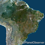 Brazil, South America - Satellite image - PlanetObserver