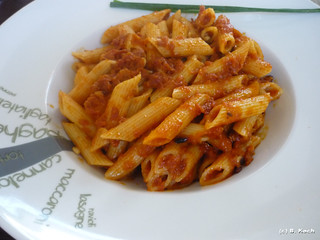 Main Course: Penne with Pesto rosso