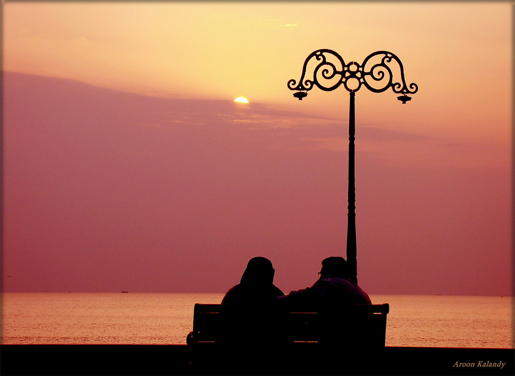 Sunset Calicut Romantic love