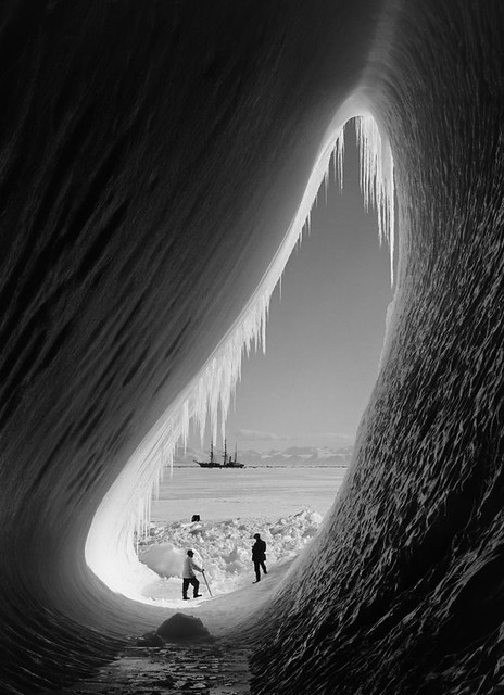 Grotto in Berg, Scott Expedition, Antarctica by Herbert George Ponting 1911