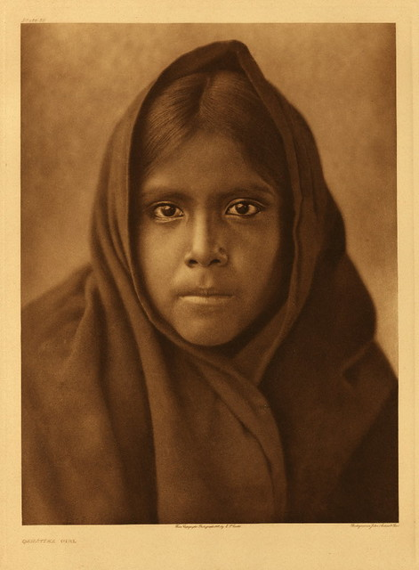 Qahatika girl, by Edward S. Curtis