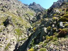 Remontée de la Haute Lonca : le verrou au-dessus de Terrici (passage RG au-dessus)