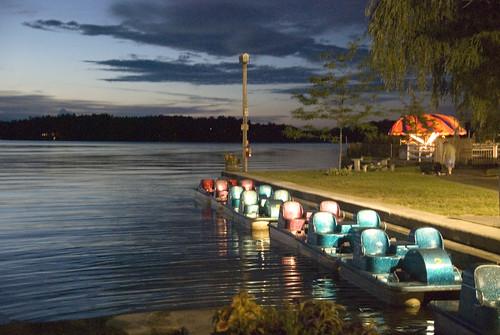 sunset paddleboats quassy lakequassapaug