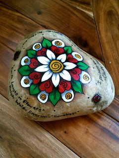 Painted Rock Door Stopper