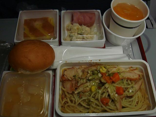 很糟糕的第一个飞机餐