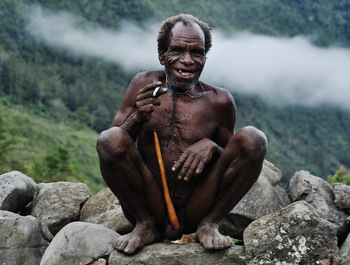 Koteka Man Enjoys a Smoke by nickkuchmak