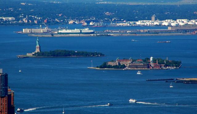 Ellis Island Et Statue Of Liberty