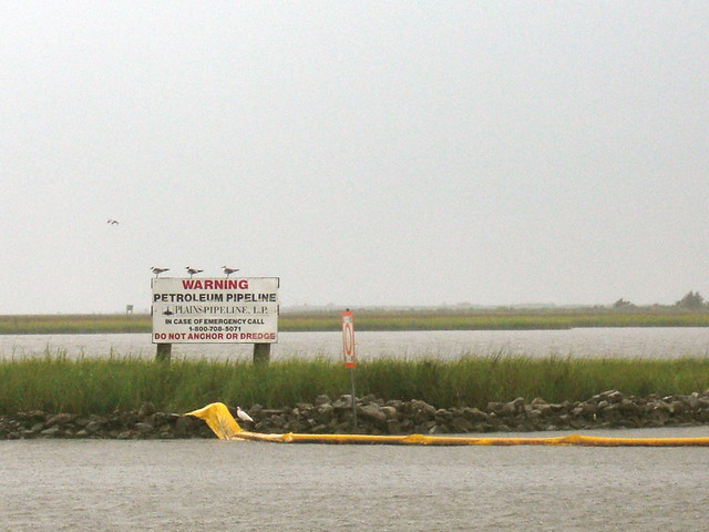 levee with oil pipeline