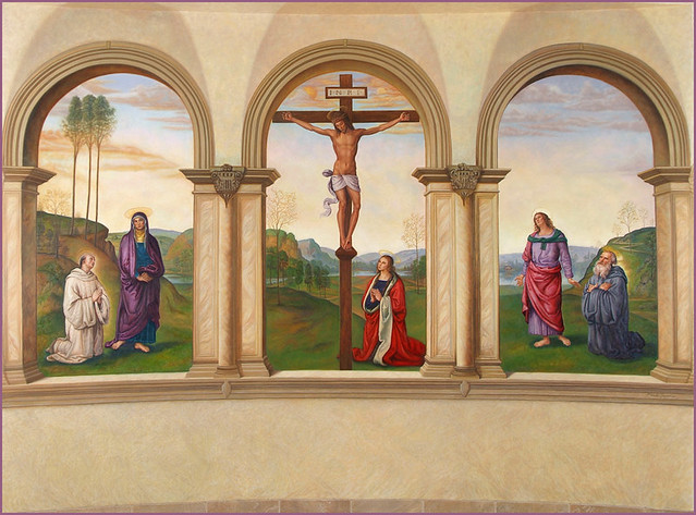 church mural art religeous art crucifixtion flickr