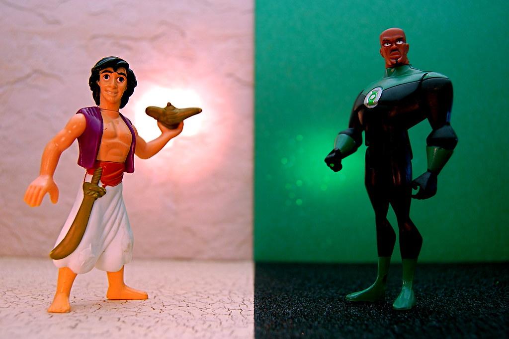 Aladdin vs. Green Lantern John Stewart (223/365)