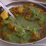 Chana Masala with Coriander Sauce  - Chandigarh, India