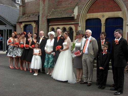 Outside Church Wedding Party