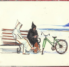 Two men and a bike by Diane Olivier