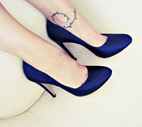 Navy Shoes Heels Wedding
