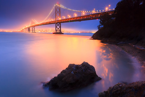 The Bay Bridge...illuminated