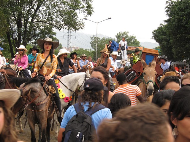 At some points, the parade became an overwhelming crowd of horses, trucks, and onlookers.