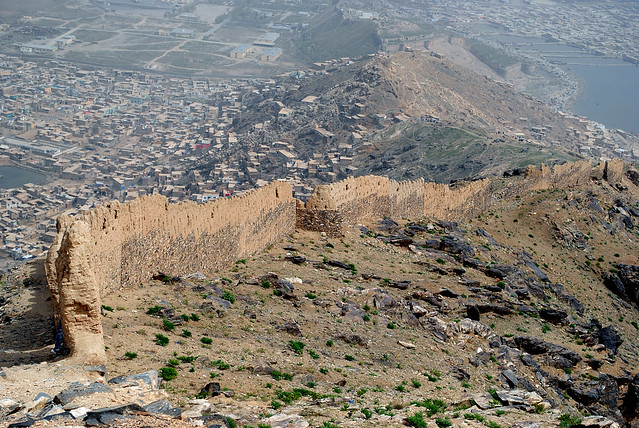 Kabul's Old City wall / Le mur de la vieille ville à Kaboul