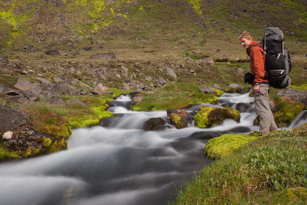Iceland crossing - self portrait