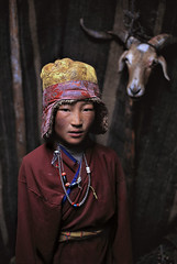 Nomad Boy, Litang, Kham, Tibet, 2005, by Steve McCurry