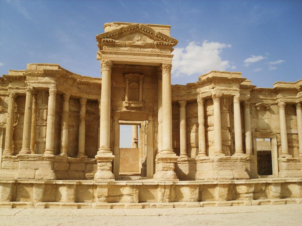 SYRIEN-Palmyra, Theater aus dem 2.Jh.n.Chr - Front, 4904