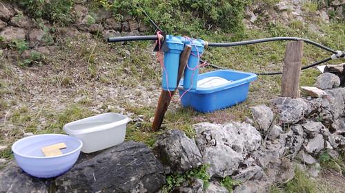 filtro para el agua de montaña
