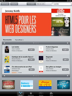Sacrebleu! The French edition of the ebook of HTML5 For Web Designers is in the top 5 sellers on iTunes