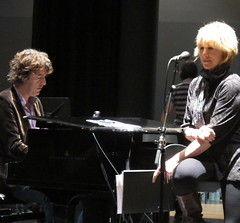Lori Lieberman and Michiel Borstlap at soundcheck for Jazz International Rotterdam
