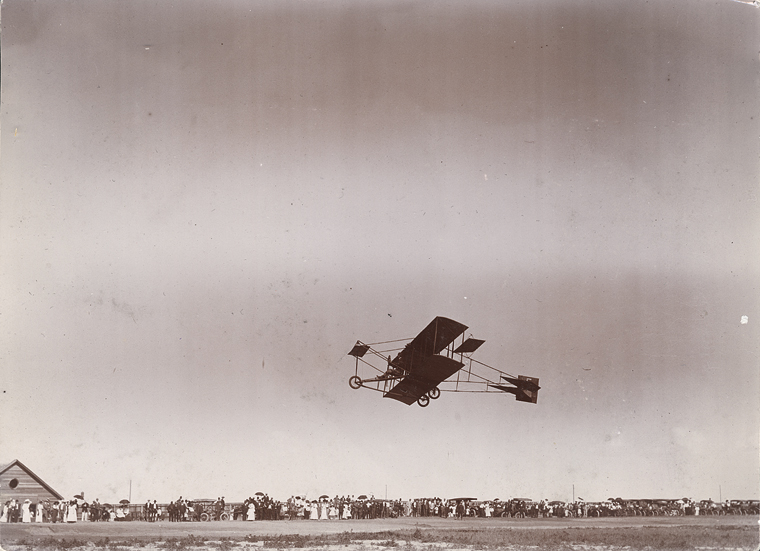 Eugene B. Ely Piloting The First Aircraft Flight In Lethbridge