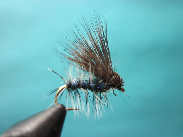 Uv ice dub elk hair caddis fly tying video the caddis for Ice fishing flies
