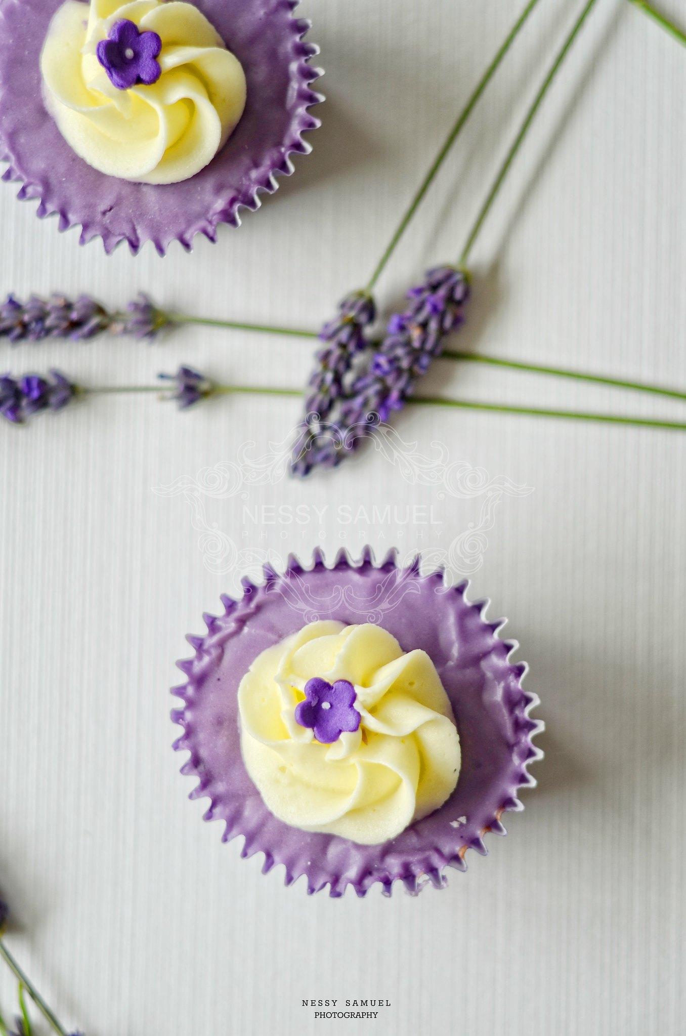 Hitchin Lavender Farm  Lavender Cupcakes