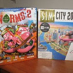 Retro PC games (retail boxes) - Worms 2 (CD) & Sim City 2000 (floppy disk)
