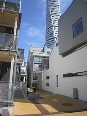 Between buildings 2