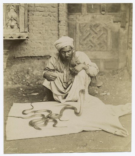 Snake charmer in Cairo, by George and Constantine Zangaki
