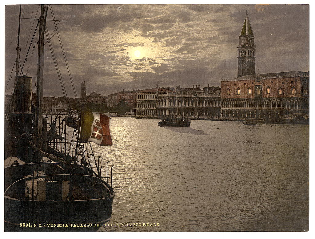 [Grand Canal and Doges' Palace by moonlight, Venice, Italy] (LOC)