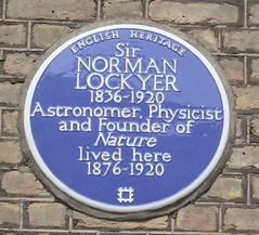 Photo of Norman Lockyer blue plaque